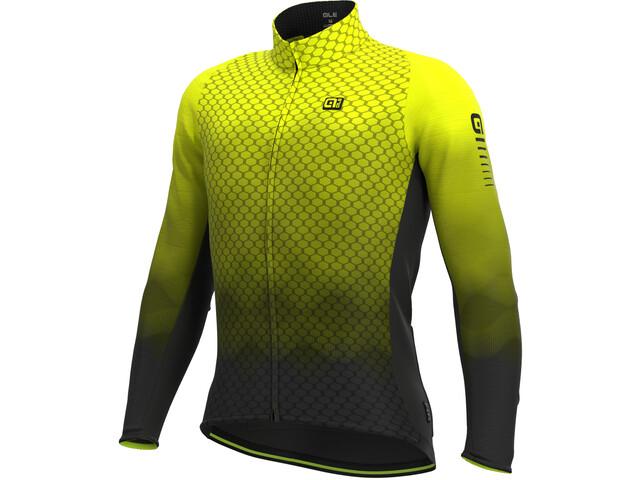 Alé Cycling R-EV1 Velocity Wind G+ LS Jersey Men fluo yellow/black